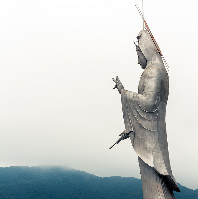 aluminium statue japan
