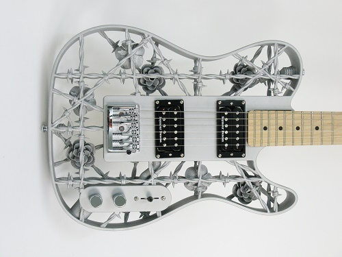 swedish professor develops world s first 3d printed all aluminium electric guitar aluminium. Black Bedroom Furniture Sets. Home Design Ideas