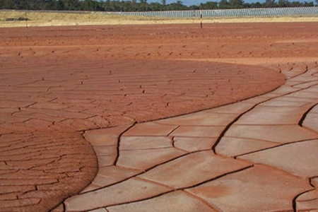 Much of the bauxite residue goes to landfill, or left in vast settling ponds