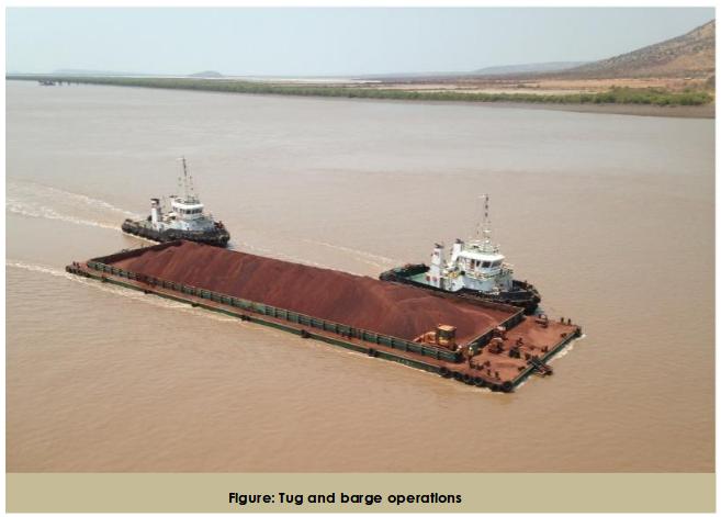 bauxite barge