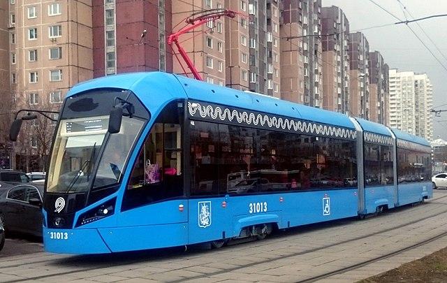 "Vityaz-M"" tram in Moscow."