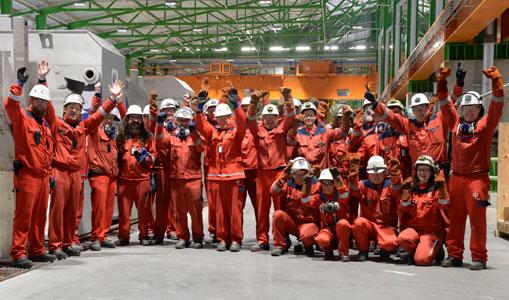 aluminium workers