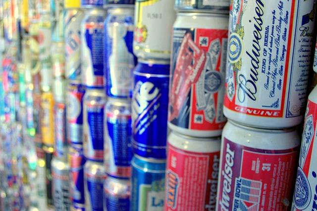 aluminium beer cans