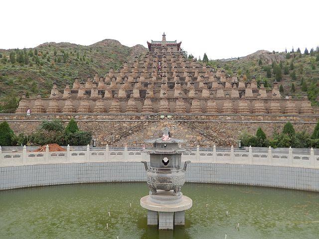 108 Buddhist stupas at Qingtongxia, Ningxia, China