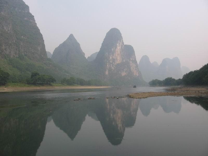 View from the Lijiang (Li) River, near Yangshuo — in the Guangxi Autonomous Region of Southastern China. Taken by Ariel Steiner.