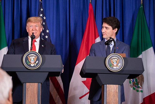President Donald J. Trump is joined by Mexican President Enrique Pena Nieto and Canadian Prime Minister Justin Trudeau at the USMCA signing ceremony Friday, Nov. 30, 2018, in Buenos Aires, Argentina. (Official White House Photo by Shealah Craighead)
