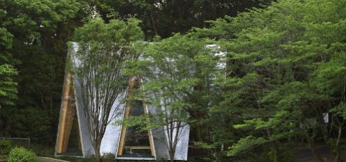 Architect Utilizes Hand-Bent Aluminium Shingles for Small Forest Chapel