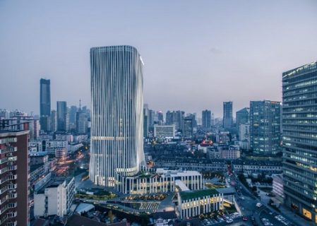 Shanghai Tower Features Pleats of Perforated Aluminium