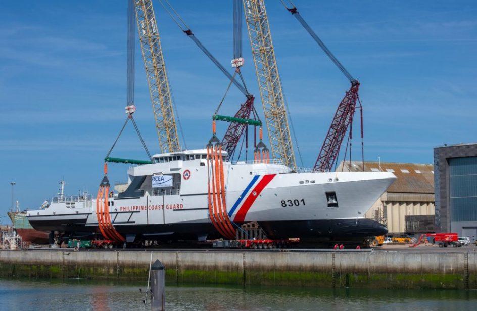 OCEA Launches Largest Ever Aluminium Offshore Patrol Vessel For Philippine Coast Guard