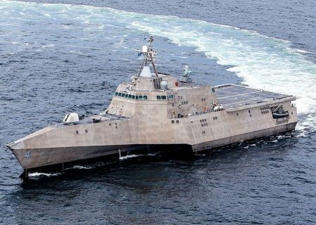 Austal USA Christens Latest Aluminium-Hulled Combat Ship