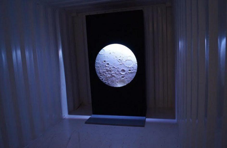 California Artist Creates Lunar Landscape Using LEDs and Aluminium