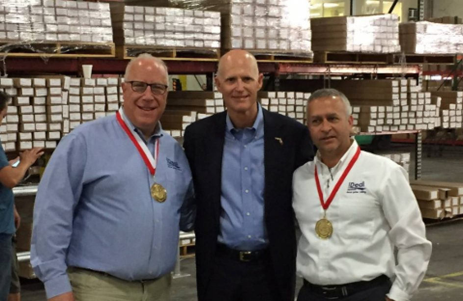 Ideal Aluminum Lauded for Creating Quality Jobs by Florida Governor Scott