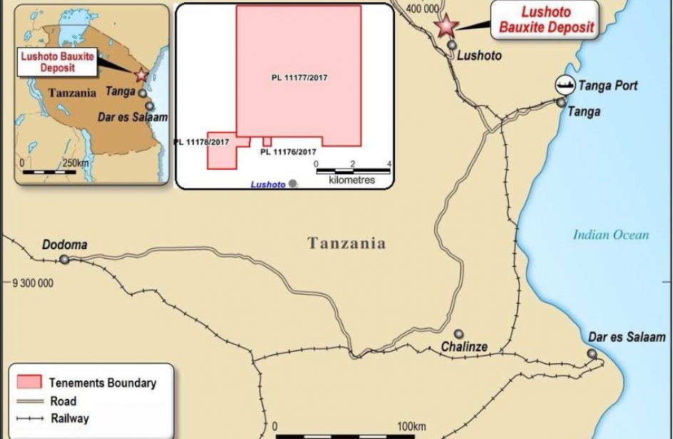 Lindian Obtains Trio Of Mining Tenements For NE Tanzania Bauxite Project