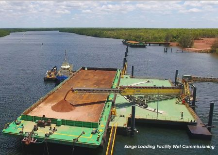 With Completion of Marine Infrastructure, Metro Mining Continues Apace for Beginning Production at Bauxite Hills in Mid-2018